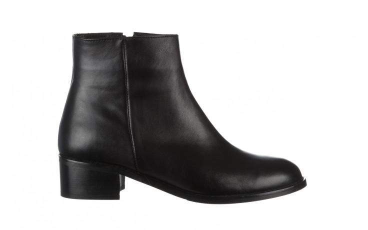 Botki bayla 161 077 47464 black 161183, czarny, skóra naturalna  - botki - buty damskie - kobieta
