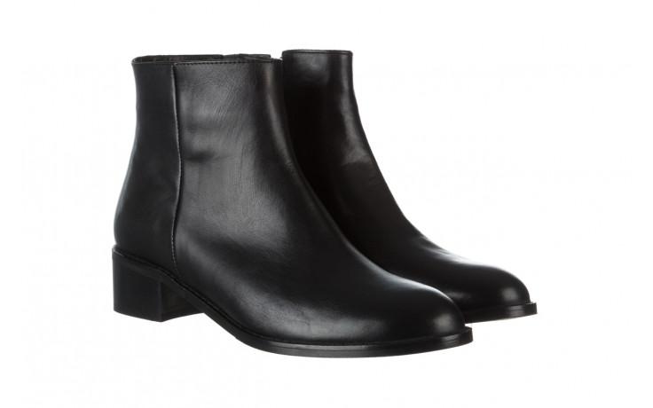 Botki bayla 161 077 47464 black 161183, czarny, skóra naturalna  - botki - buty damskie - kobieta 1