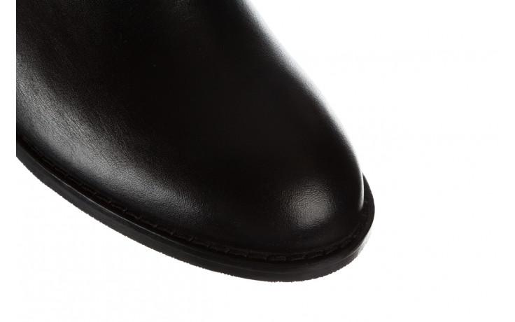Botki bayla 161 077 47464 black 161183, czarny, skóra naturalna  - botki - buty damskie - kobieta 5