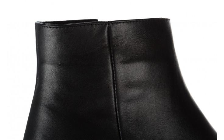 Botki bayla 161 077 47464 black 161183, czarny, skóra naturalna  - botki - buty damskie - kobieta 6