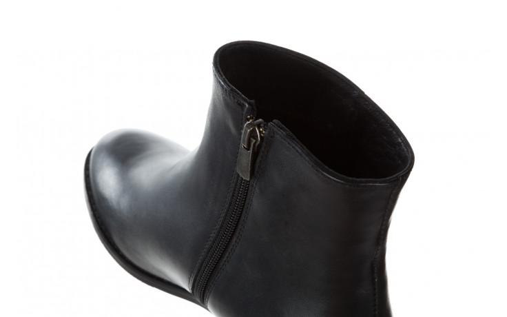 Botki bayla 161 077 47464 black 161183, czarny, skóra naturalna  - botki - buty damskie - kobieta 7