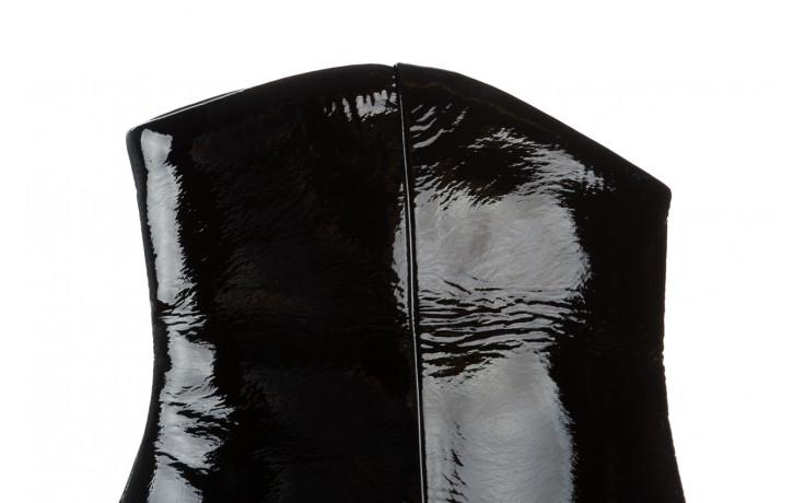 Botki bayla 161 050 022 400 black patent 161167, czarny, skóra naturalna lakierowana  - kobieta 5