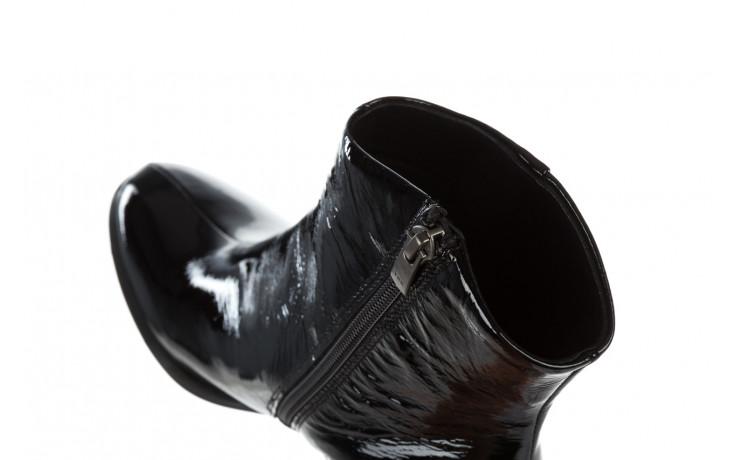 Botki bayla 161 050 022 400 black patent 161167, czarny, skóra naturalna lakierowana  - kobieta 6