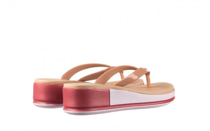 Klapki azaleia 281 517 nude multi, beż, guma - japonki - klapki - buty damskie - kobieta 3