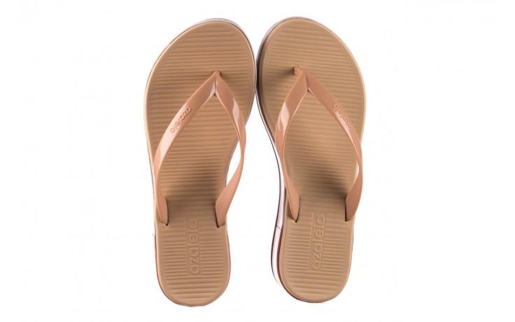 Klapki azaleia 281 517 nude multi, beż, guma - japonki - klapki - buty damskie - kobieta 4