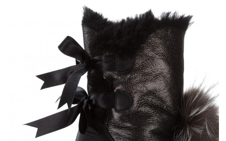 Śniegowce bayla 161 017 2010 82 platin satin 161160, czarny, skóra naturalna  - trendy - kobieta 8