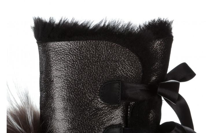 Śniegowce bayla 161 017 2010 82 platin satin 161160, czarny, skóra naturalna  - trendy - kobieta 10