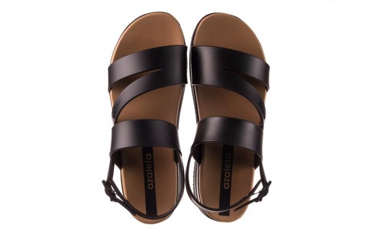 Sandały azaleia 260 497 black, czarny, guma - gumowe - sandały - buty damskie - kobieta 4