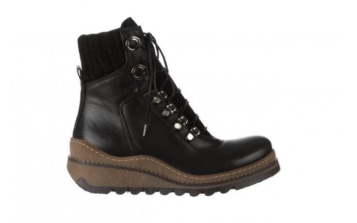 Trzewiki bayla 161 050 0401 9 01 28 black 161168, czarny, skóra naturalna  - trzewiki - buty damskie - kobieta