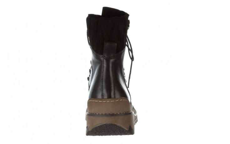Trzewiki bayla 161 050 0401 9 01 28 black 161168, czarny, skóra naturalna  - trzewiki - buty damskie - kobieta 9