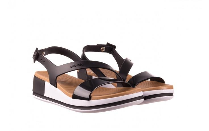 Sandały azaleia 281 584 black, czarny, guma - sandały - dla niej  - sale 1