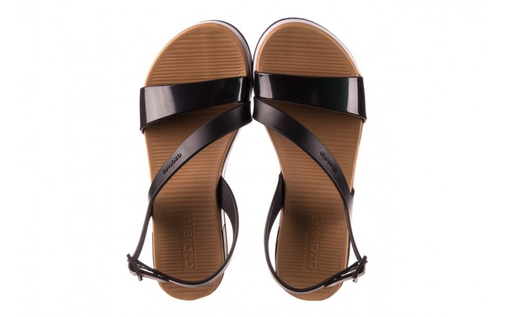 Sandały azaleia 281 584 black, czarny, guma - sandały - dla niej  - sale 3