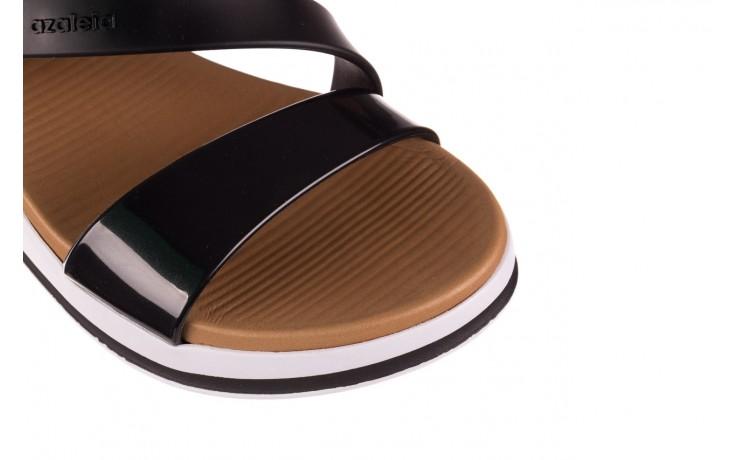 Sandały azaleia 281 584 black, czarny, guma - sandały - dla niej  - sale 4