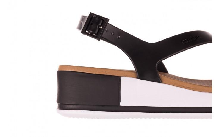 Sandały azaleia 281 584 black, czarny, guma - sandały - dla niej  - sale 5