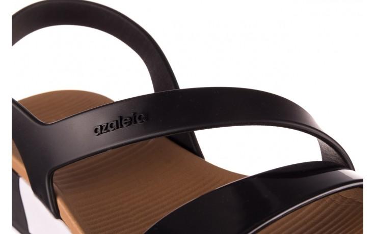 Sandały azaleia 281 584 black, czarny, guma - sandały - dla niej  - sale 6