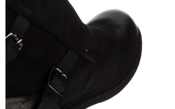Trzewiki bayla 161 050 2330 010 black nubuck 161173, czarny, skóra naturalna  - trendy - kobieta 6