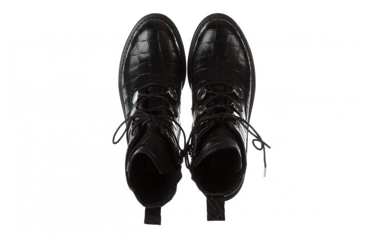 Trzewiki bayla 161 050 7263 3085 black croco 161178, czarny, skóra naturalna  - sale 5