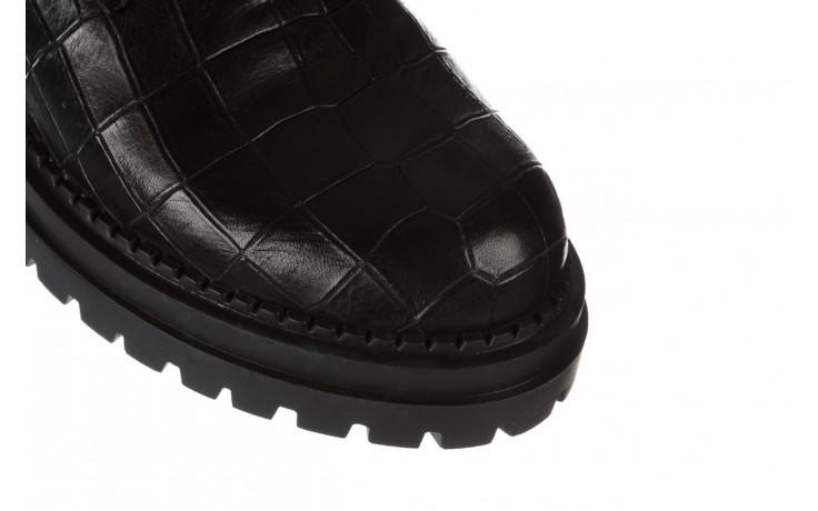 Trzewiki bayla 161 050 7263 3085 black croco 161178, czarny, skóra naturalna  - sale 6