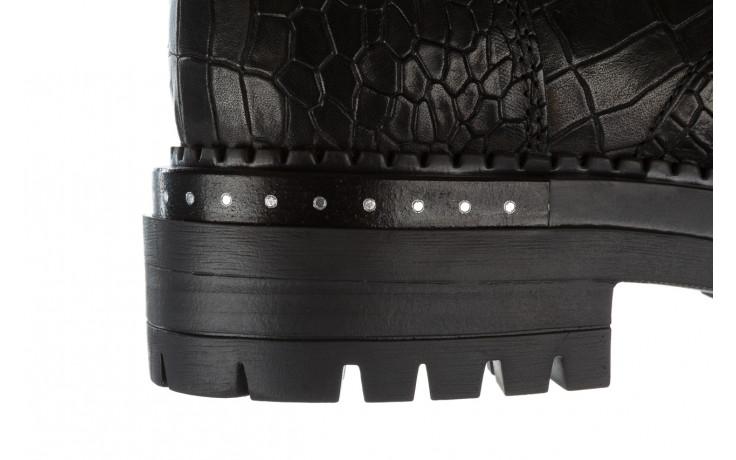 Trzewiki bayla 161 050 7263 3085 black croco 161178, czarny, skóra naturalna  - sale 10