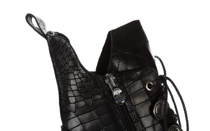 Trzewiki bayla 161 050 7263 3085 black croco 161178, czarny, skóra naturalna  - sale 8