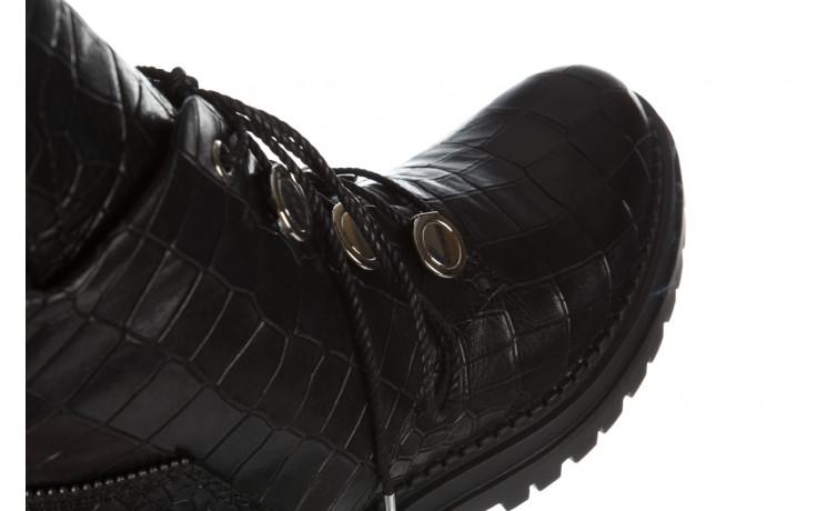 Trzewiki bayla 161 050 7263 3085 black croco 161178, czarny, skóra naturalna  - kobieta 11