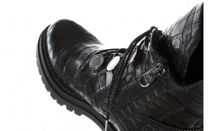 Trzewiki bayla 161 050 7263 3085 black croco 161178, czarny, skóra naturalna  - kobieta 12