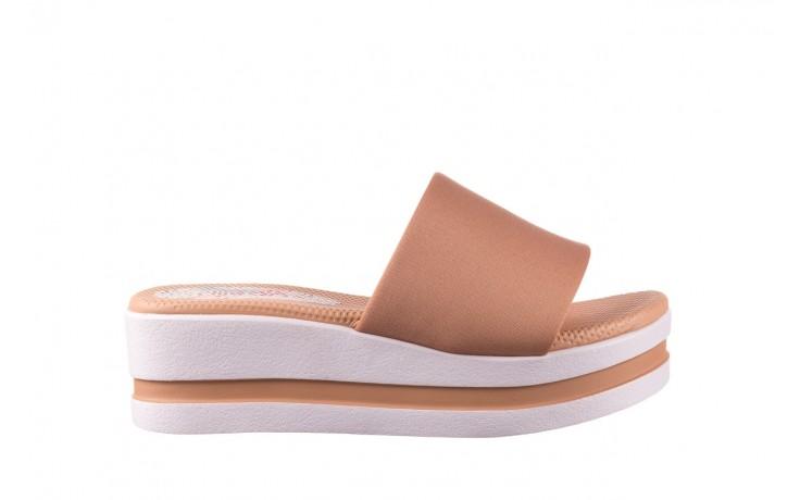 Klapki dijean 485 359 nude, beż, materiał  - klapki - buty damskie - kobieta
