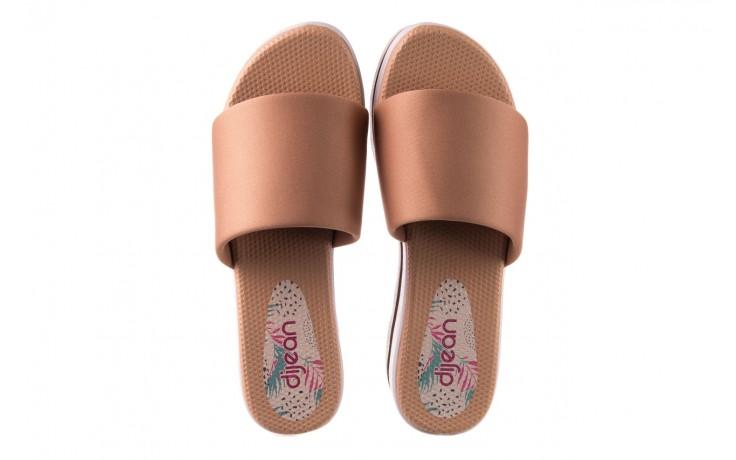 Klapki dijean 485 359 nude, beż, materiał  - klapki - buty damskie - kobieta 4