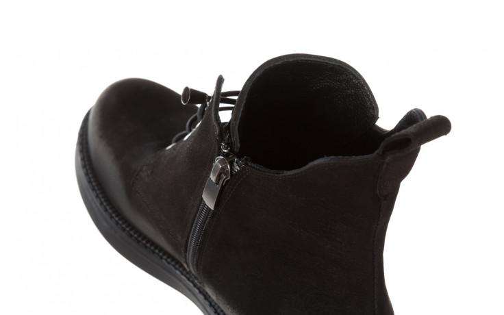 Trzewiki bayla 161 020 56 n1 black nubuck 161165, czarny, skóra naturalna  - kobieta 8