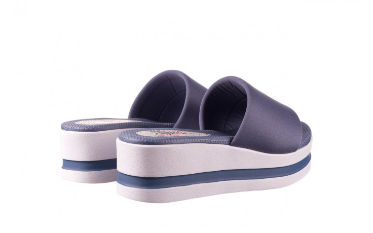 Klapki dijean 485 359 maritime, niebieski, materiał - klapki - buty damskie - kobieta 3