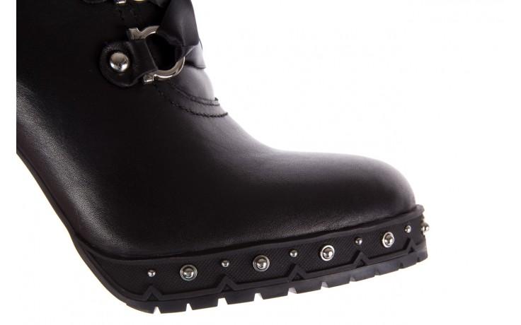 Botki bayla-144 9308 czarne botki 144020, skóra naturalna - worker boots - trendy - kobieta 7