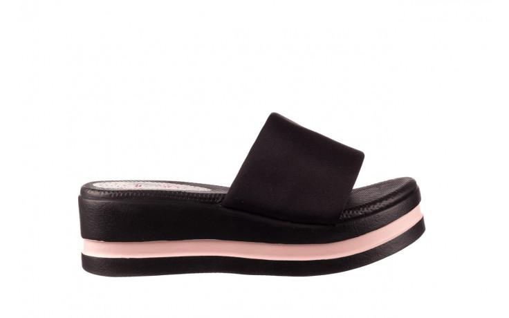 Klapki dijean 485 359 black vanilla, czarny, materiał  - na koturnie - klapki - buty damskie - kobieta