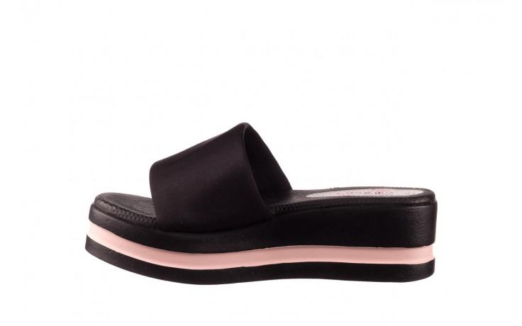 Klapki dijean 485 359 black vanilla, czarny, materiał  - na koturnie - klapki - buty damskie - kobieta 2