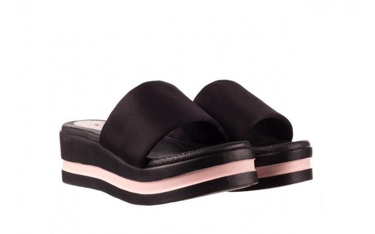 Klapki dijean 485 359 black vanilla, czarny, materiał  - na koturnie - klapki - buty damskie - kobieta 1