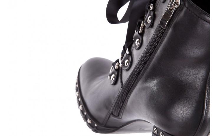 Botki bayla-144 9308 czarne botki 144020, skóra naturalna - worker boots - trendy - kobieta 8