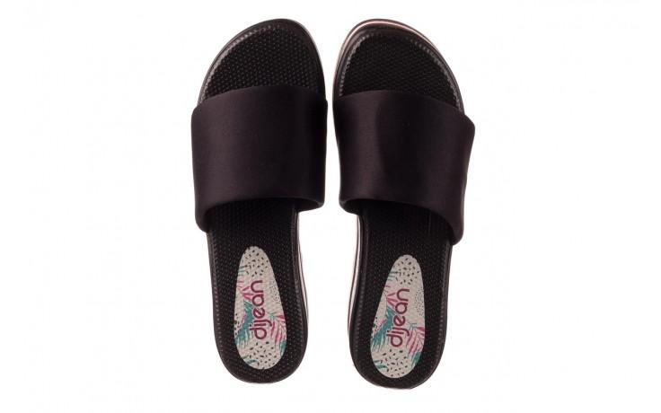 Klapki dijean 485 359 black vanilla, czarny, materiał  - na koturnie - klapki - buty damskie - kobieta 4