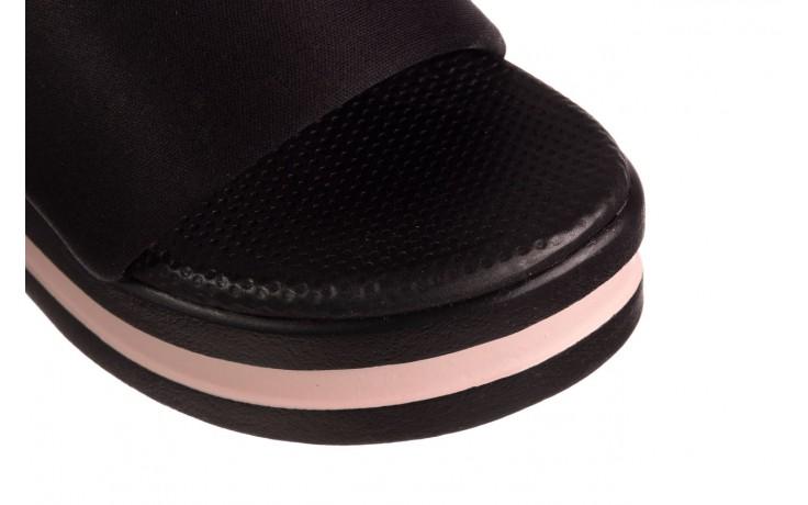 Klapki dijean 485 359 black vanilla, czarny, materiał  - na koturnie - klapki - buty damskie - kobieta 5