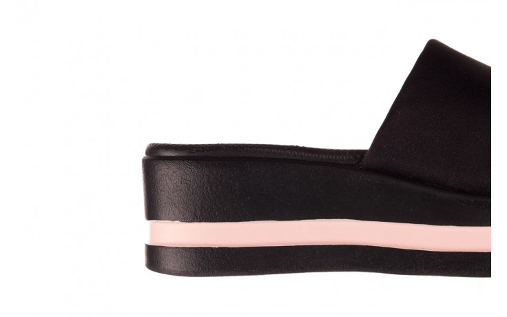 Klapki dijean 485 359 black vanilla, czarny, materiał  - na koturnie - klapki - buty damskie - kobieta 6