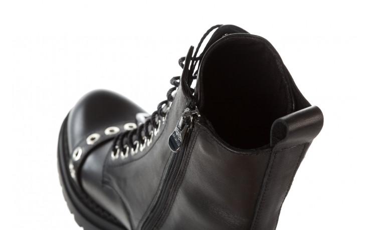Trzewiki bayla 161 050 7255  01 black 161176, czarny, skóra naturalna  - trzewiki - buty damskie - kobieta 10