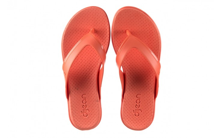 Klapki dijean 286 248 coral coral, róż, guma - klapki - buty damskie - kobieta 4