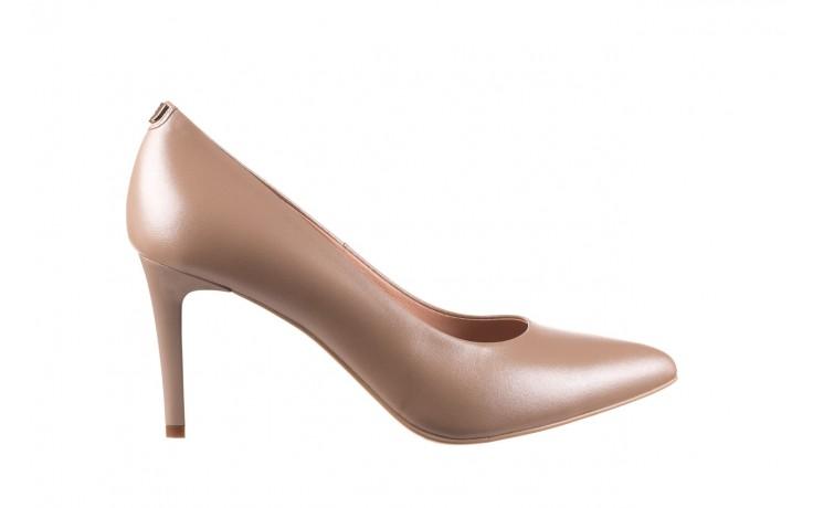 Czółenka bayla-056 1816-1421 beż 20, skóra naturalna  - skórzane - czółenka - buty damskie - kobieta
