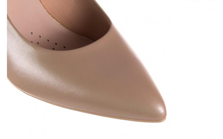 Czółenka bayla-056 1816-1421 beż 20, skóra naturalna  - skórzane - czółenka - buty damskie - kobieta 5