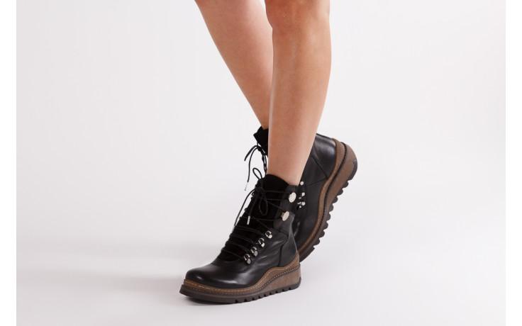 Trzewiki bayla 161 050 0401 9 01 28 black 161168, czarny, skóra naturalna  - trzewiki - buty damskie - kobieta 2