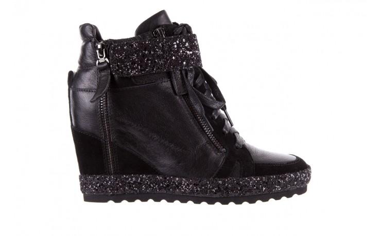 Sneakersy bayla-144 9302 czarne sneakersy, skóra naturalna  - bayla - nasze marki