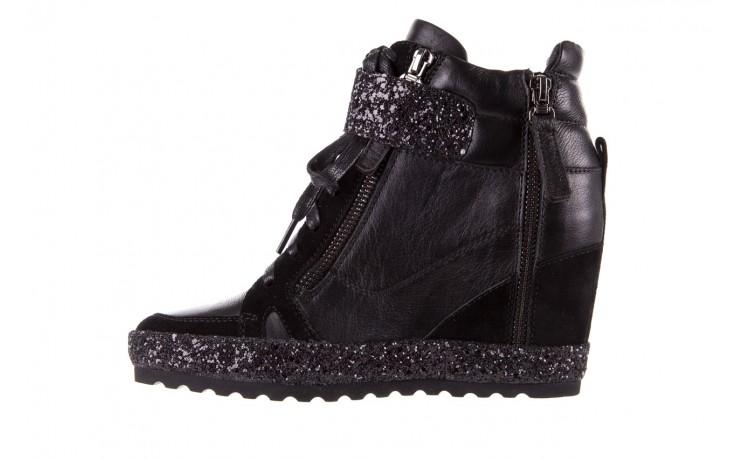Sneakersy bayla-144 9302 czarne sneakersy, skóra naturalna  - bayla - nasze marki 3