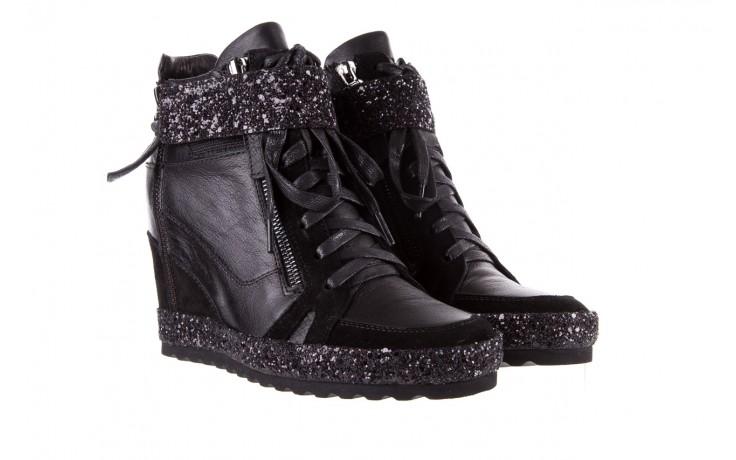Sneakersy bayla-144 9302 czarne sneakersy, skóra naturalna  - bayla - nasze marki 1