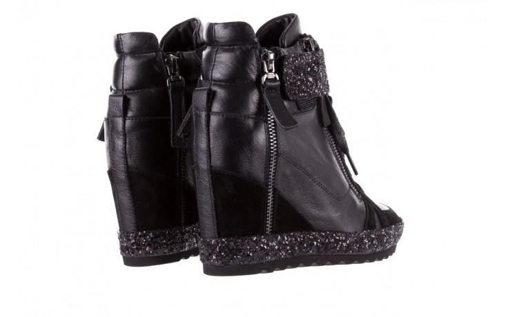 Sneakersy bayla-144 9302 czarne sneakersy, skóra naturalna  - bayla - nasze marki 4