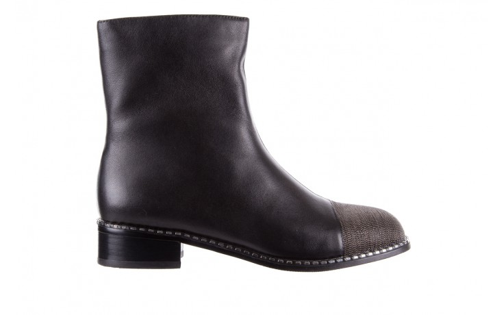 Botki sca'viola f-93 black, czarny, skóra naturalna  - worker boots - trendy - kobieta