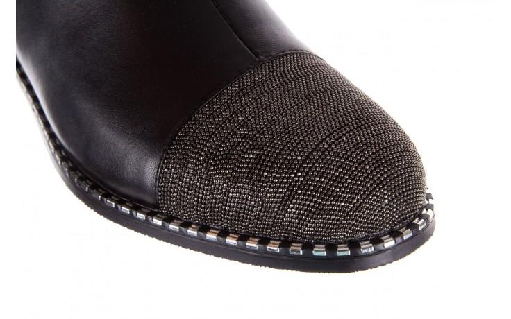 Botki sca'viola f-93 black, czarny, skóra naturalna  - worker boots - trendy - kobieta 8