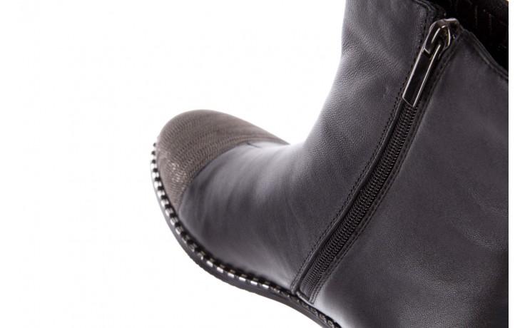 Botki sca'viola f-93 black, czarny, skóra naturalna  - sztyblety - botki - buty damskie - kobieta 7